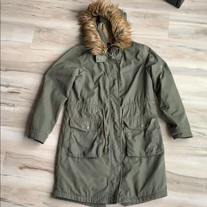Who What Wear Green Army Anorak Jacket